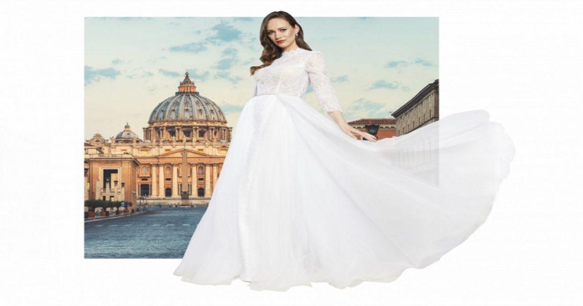 Polska projektantka stworzyła suknię ślubną w hołdzie Ojcu Świętemu